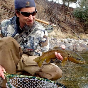 River reports for Gunnison Valley fly waters are also available at www.gunnisonflyfish.com.  A mid-February Pa-Co-Chu-Puk brown trout.